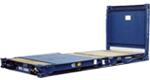 flush folding flat racks - shipping containers for sale and hire